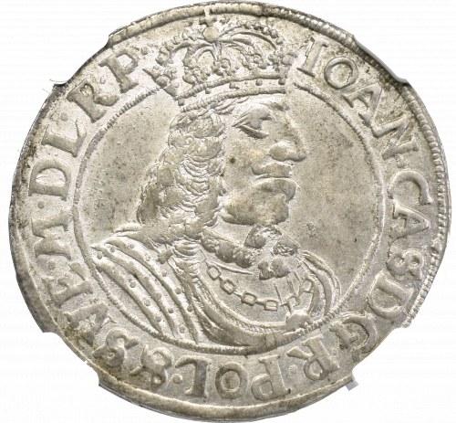 Jan II Kazimierz, Ort 1663, Toruń - NGC MS62