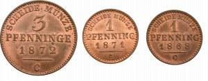 Niemcy, zestaw 3 wyselekcjonowanych monet