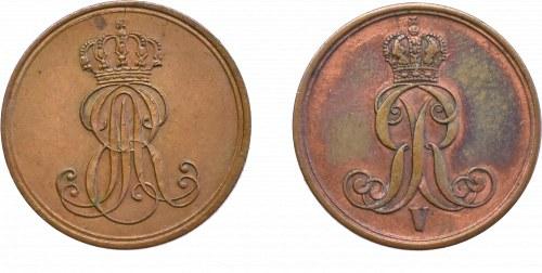 Niemcy, zestaw 2 x 1 pfennig