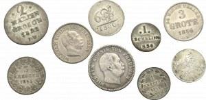 Niemcy, zestaw 9 srebrnych monet