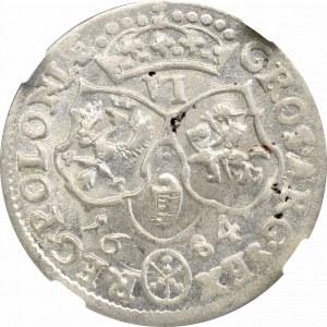 Jan III Sobieski, Szóstak 1684, Bydgoszcz - NGC MS62
