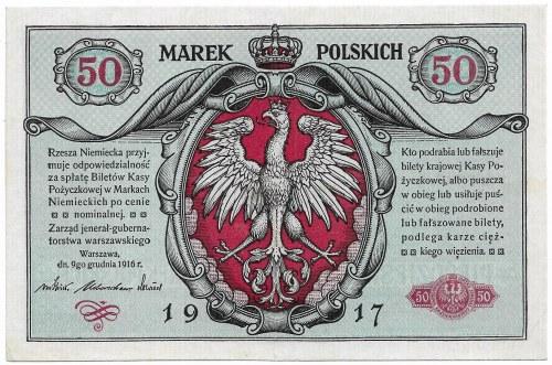 Polska, Generalne Gubernatorstwo, 50 marek polskich 9.12.1916; jenerał, seria A