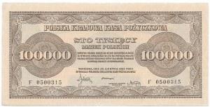 Polska, II Rzeczpospolita, 100 000 marek polskich 1923 F