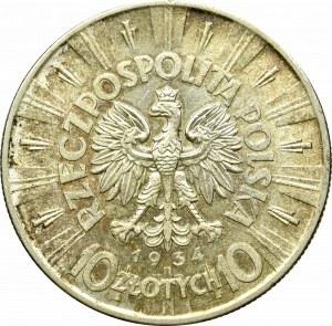 II Rzeczpospolita, 10 złotych 1934, Piłsudski