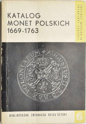 Katalog monet polskich 1669-1763 Jabłoński, Terlecki