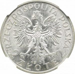 Second Polish Republic, 2 zlote 1933