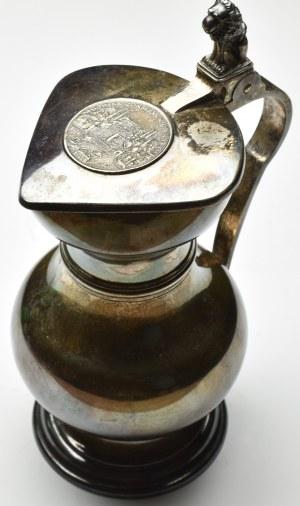 Szwajcaria, Karafka srebrna z talarem 1790 Zurych