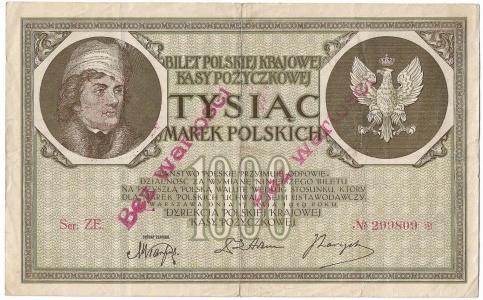 Polska, II Rzeczpospolita, 1000 Marek Polskich 1919 - Falsyfikat z epoki