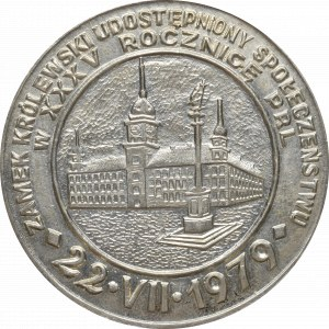 PRL, Medal Zamek Królewski w Warszawie 1979 srebro