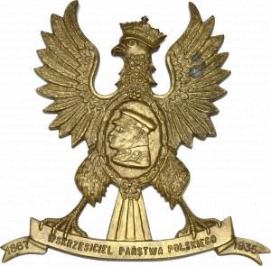 Polska, Plakieta/ryngraf orzeł z medalionem Józef Piłsudski