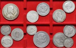 Austria, Węgry, kolekcja 13 srebrnych monet