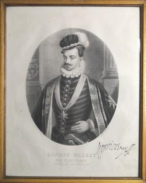 Litografia w oprawie, Henryk Walezy, XVII w.