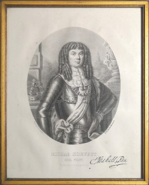 Litografia w oprawie, Michał Korybut, XVIII w.