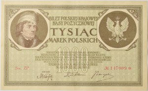 Polska, II Rzeczpospolita, 1000 Marek Polskich 1919 ZP