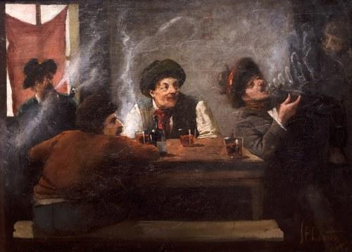 Stanisław Lentz (1861 Warszawa - 1920 tamże)Scena w gospodzie