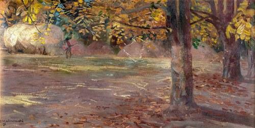 Jacek Malczewski (1854 Radom - 1929 Kraków)Pejzaż z drzewami (Wielgie), 1895 r.