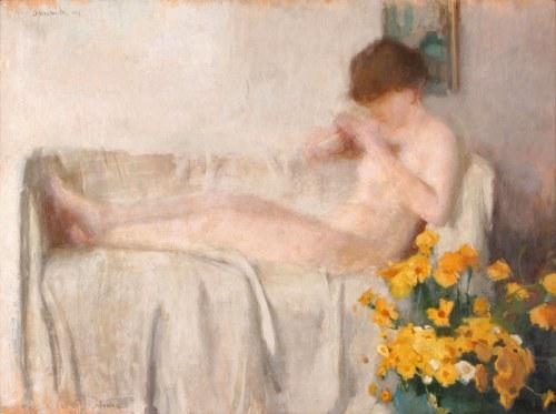 Alfons Karpiński (1875 Rozwadów - 1961 Kraków)Manicure, 1921 r.