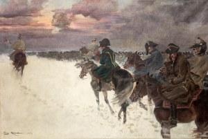 Jerzy Kossak (1886 Kraków - 1955 tamże)Wizja Napoleona w odwrocie spod Moskwy, 1921 r.