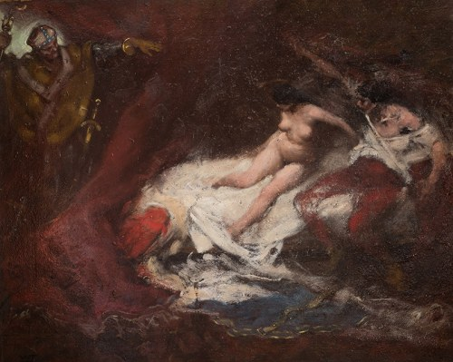 Włodzimierz Tetmajer (1862 Harklowa - 1923 Kraków)Przyłapani kochankowie