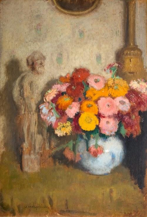 Alfons Karpiński (1875 Rozwadów - 1961 Kraków)Cynerarie, 1929 r.