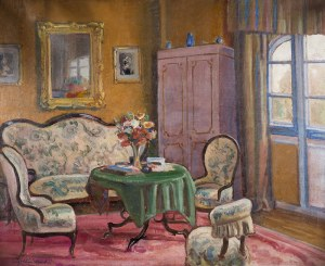 Ignacy Pieńkowski (1877 Dołubów - 1948 Kraków)Wnętrze dworu