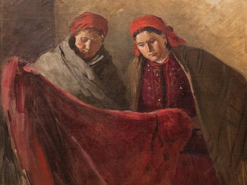 Wincenty Wodzinowski (1866 Igołomnia k. Miechowa - 1940 Kraków)Dwie kobiety, 1896 r.