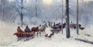 Adam Setkowicz (1875 Kraków - 1945 tamże)W lesie