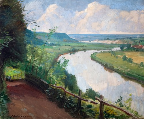 Artur Wasner (1887 Łaziska Średnie - 1938 Dąbrowica/k. Szczodrego)Zakole rzeki