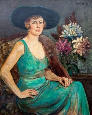 Stanisław Gałek (1876 Mokrzyska - 1961 Zakopane)Dama w zielonej sukni