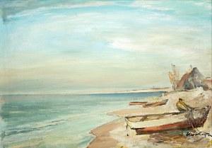 Marian Mokwa (1889 Malary - 1987 Sopot)Na brzegu