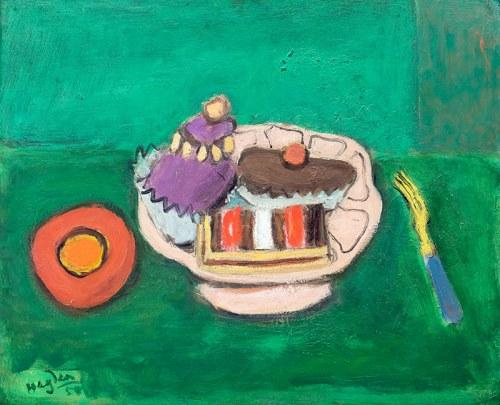 Henryk Hayden (1883 Warszawa - 1970 Paryż)Martwa natura z ciastkami, 1954 r.