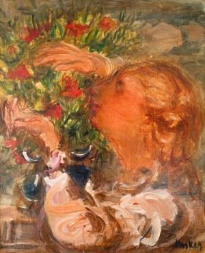 Zygmunt Menkes (1896 Lwów - 1986 Riverdale)Dziewczyna z bukietem kwiatów, ok. 1928 r.