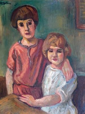 Henryk Epstein (1891 Łódź - 1944 Auschwitz)Dwoje dzieci