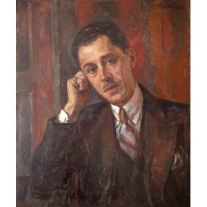 Maurycy Mędrzycki (1890 Łódź - 1951 Paul de Vance)Portret mężczyzny