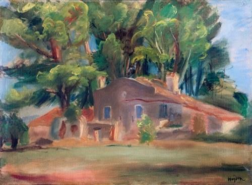 Henryk Hayden (1883 Warszawa - 1970 Paryż)Dom pośród drzew, około 1930 r.