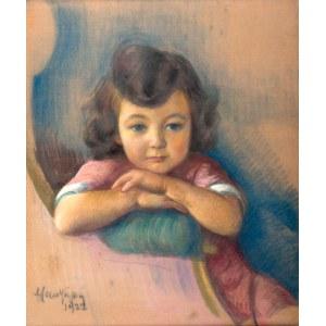 Maurycy Mędrzycki (1890 Łódź - 1951 Paul de Vance)Portret dziewczynki, 1922 r.
