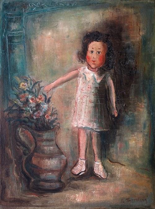 Marc Sterling (1898-1976)Dziewczynka z kwiatami