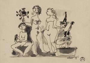 Otto AXER (1906-1983), Modelki