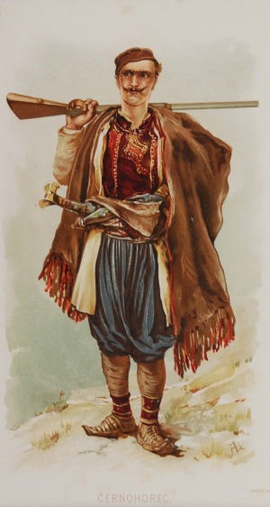 Zygmunt AJDUKIEWICZ (1861-1917), Górale z Galicji i Lodomerii - zbiór 5 prac, ok. 1890 r