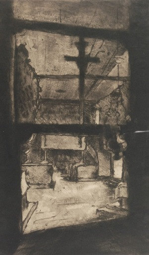 Mieczysław ORACKI- SERWIN (1912-1977), Wnętrze kościółka, ok. 1935 r