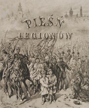 Juliusz KOSSAK (1824-1899) - według, Pieśń Legionów - zestaw 3 prac, 1893