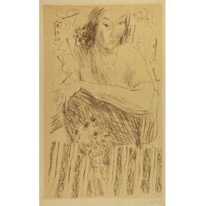 Andrzej JURKIEWICZ (1907-1967), Portret kobiety, ok. 1935
