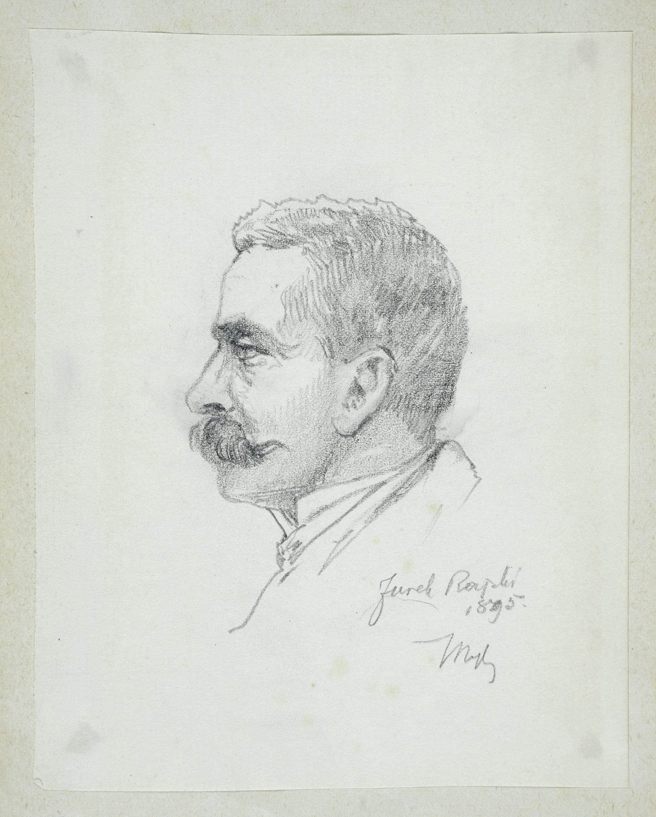 Tadeusz Rybkowski (1848-1926), Portret mężczyzny ukazany z lewego profilu, 1895