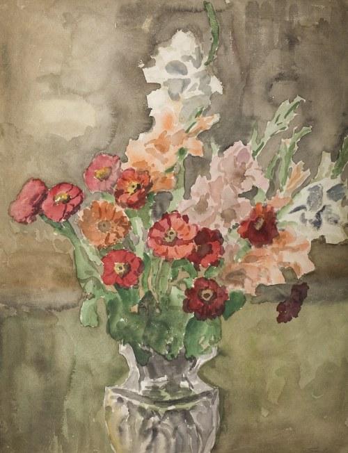 Władysław Serafin (1905-1988), Kwiaty w kryształowym wazonie
