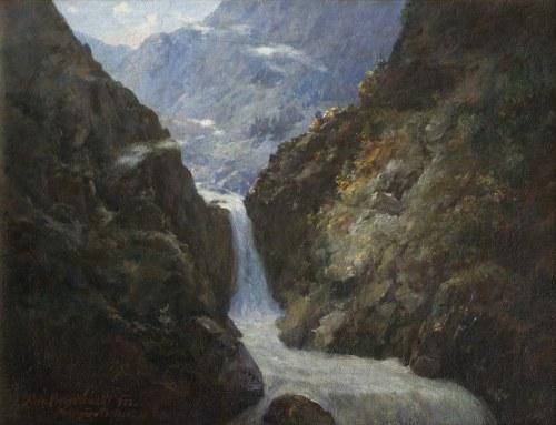 Aleksander Mroczkowski (1850-1927), Wodospad w Roztoce, 1922