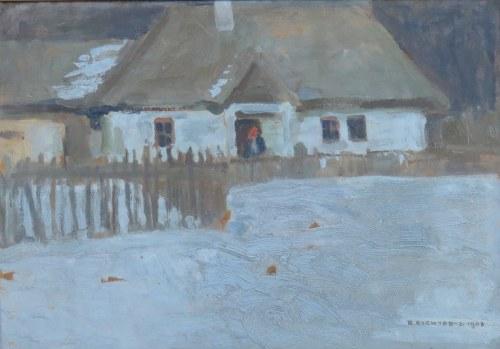Bronisława Rychter-Janowska (1868-1953), Przed domem, 1908