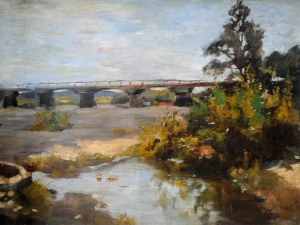 Stanisław Kamocki (1875-1944), Most na Skawie koło Zatora, ok. 1900