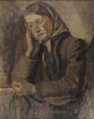Stanisław Czajkowski (1878-1954), Portret wieśniaczki