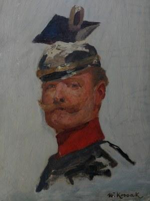 Wojciech Kossak (1856-1942), Portret cesarza Wilhelma II