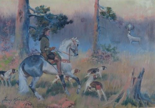 Jerzy Kossak (1886-1955), Św. Hubert, 1941